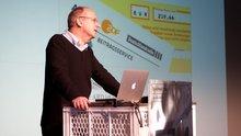 Prof. Dr. Lorenz Lorenz-Meyer mit einem Plädoyer für den Rundfunkbeitrag auf der re:publica TEN