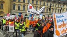 Demo + Streik Redakt./Verlage München 16April2014