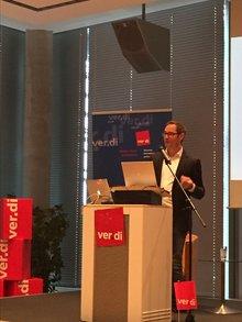 Jan Kottmann, Google Deutschland, auf der Medienpolitischen Tagung beim MDR in Leipzig