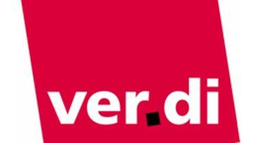 verdi Logo mit rbb Schriftzug