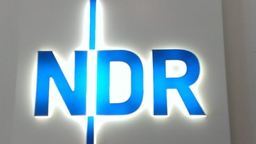 Der NDR als Lichtreklame