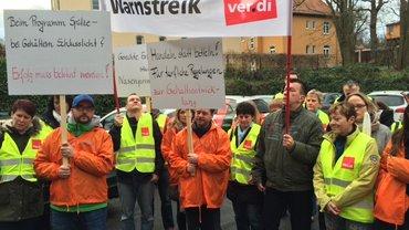 Warnstreik bei Antenne Thüringen in Weimar