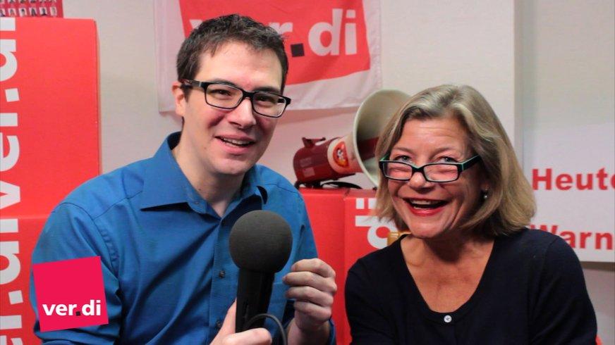 Anja Arp und David Jacobs im Gespräch