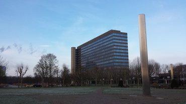 ZDF-Hochhaus im Winter