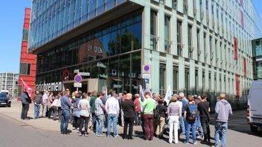 Warnstreik bei Radio Bremen im Rahmen der Tarifverhandlungen bei Bremedia