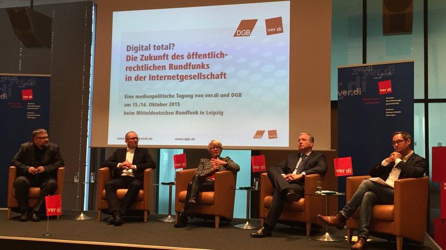 Podiumsdiskussion auf der Medienpolitischen Tagung beim MDR in Leipzig