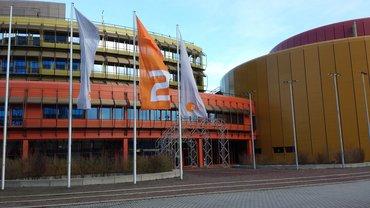Sendebetriebsgebäude des ZDF im Januar 2015