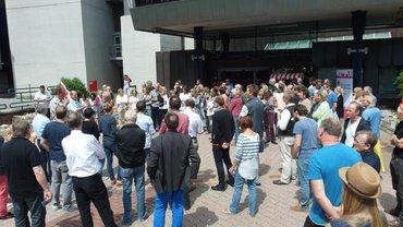 Mobilisierungsaktion zur 2. Tarifrunde beim SWR am 25.6.2015