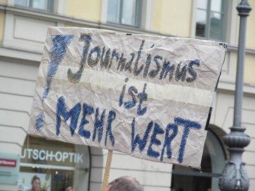 Streik + Demo Redakt./Verlage München 16April2014