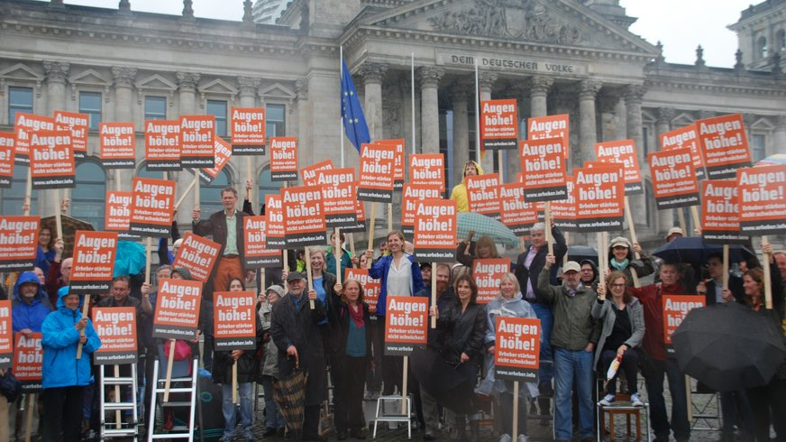 Demo vor dem Reichstag