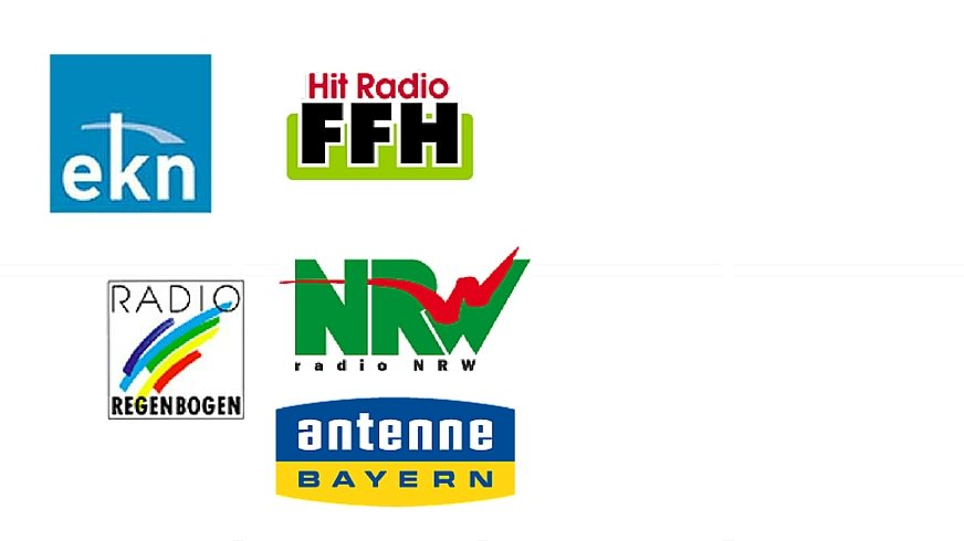 Logos der Mitglieder des Tarifverbands Privater Rundfunk
