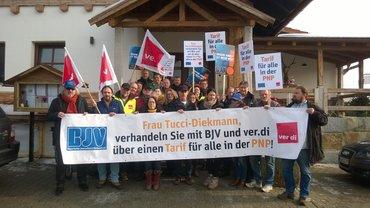 PNP und Donau Wald Presse im Streik