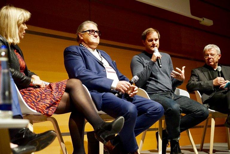 """Medienpolitische Tagung """"Rundfunk im Abseits"""": Birgit van Eimeren, Michael Brandner, Oke Göttlich (v.l.n.r)"""