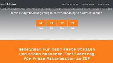 Screenshot der Website www.zdfcountdown.de