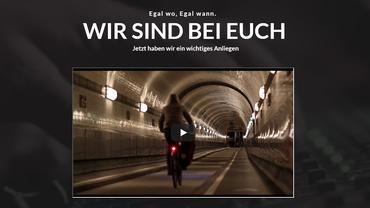 Screenshot der Website von #WirSindRadioHamburg mit dem eigens produzierten Video in der Mitte