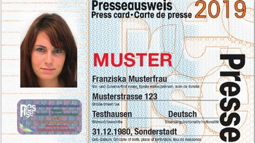 Muster Presseausweis 2019