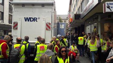 WDR Warnstreik Versammlung
