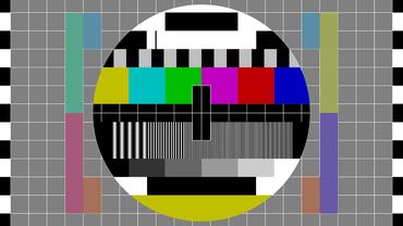 Textbild auf einem Fernseher