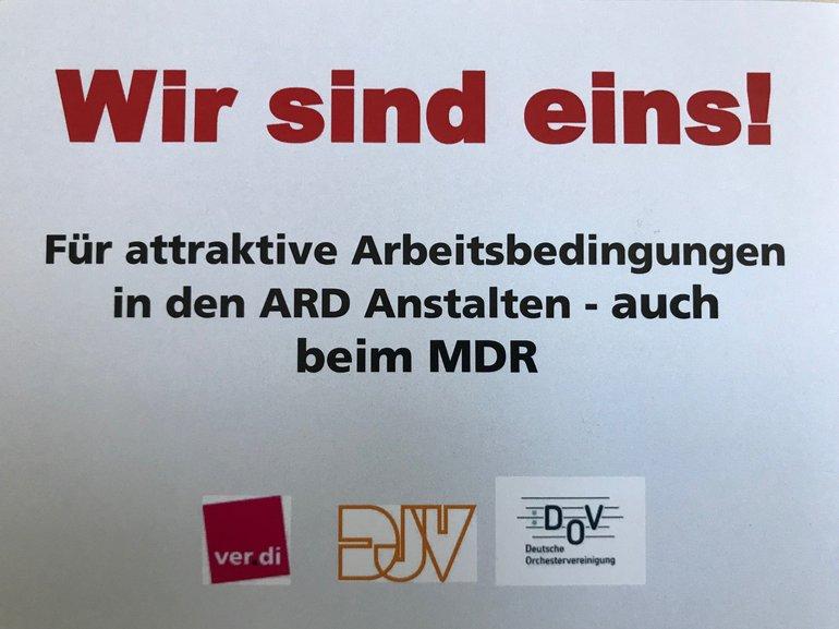 MDR ruft zum Warnstreik am 18.09.2019 auf