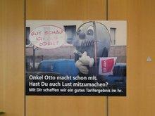 Großes Plakat mit hr-Maskottchen Onkel Otto