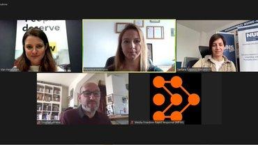 Diskussion bei MFRR mit Monique Hofmann
