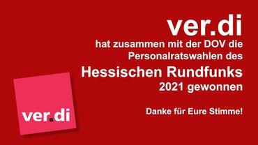 hr PR-Wahl 2021: Die ver.dis sagen DANKE